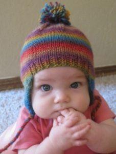 Bello chullo andino para bebe