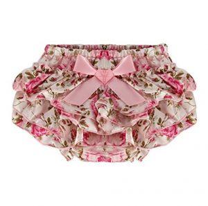 Calzóncon bobos para bebe modelo rosas
