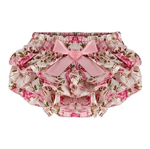 calzon con bobos para bebe modelo rosas
