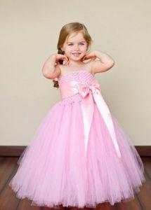 Elegante vestido de promoción color rosado