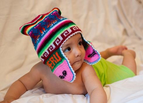 hermoso chullo para bebe