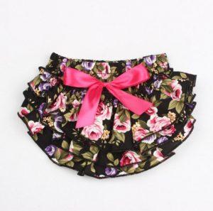 Lindo calzóncon bobos para bebe modelo floreado