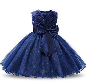 Elegante vestidode promoción color azul