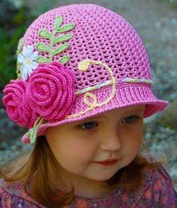 14 preciosos gorros tejidos a mano para niña - Ropas Para Bebe cf20a1e33dc