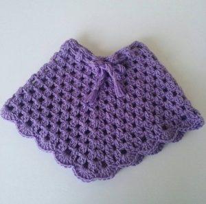 Preciosos ponchos tejidos a mano para niñas 65f47aa9291