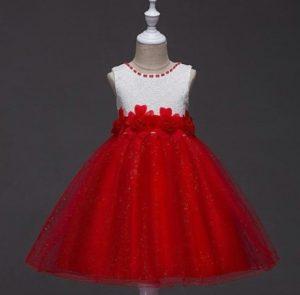 Vestido de promoción rojo y blanco