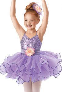 lindo vestuario de ballet para niña