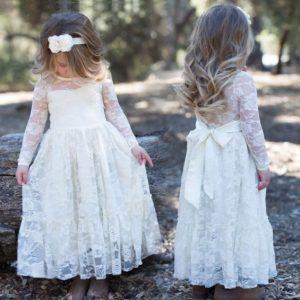 Lindo diseño devestido de bautizo para niña