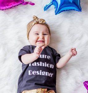 hermosa bebe con turbante