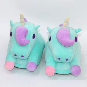 Pantufla unicornio para niñas