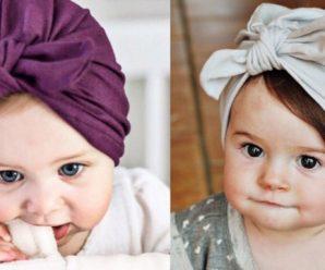 Bellísimos y novedosos turbantes para bebes