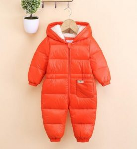 color naranja mameluco para bebe
