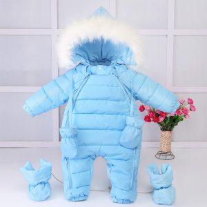 lindo juego de mameluco de invierno para bebe