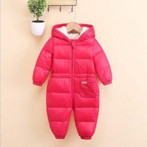 mameluco de invierno para bebe color rojo