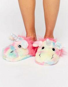 gracioso Pantufla unicornio para niñas