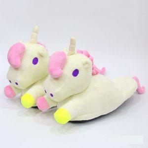 tierno pantufla con diseño de unicornio para niña