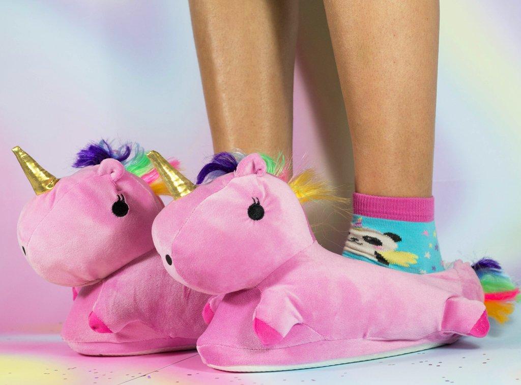 pantufla diseño unicornio para niñas