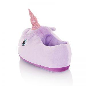 lindo pantufla con diseño de unicornio para niña