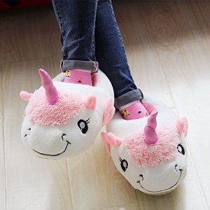 modenro pantufla con diseño de unicornio para niña