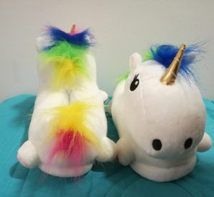 pantuflas unicornio color blanco