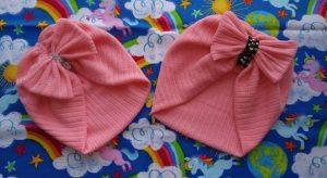 turbante para bebe de tela polar
