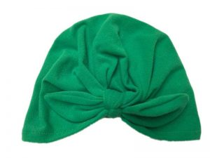 turbante para bebe color verde jade