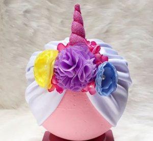 novedoso turbante unicornio para bebe