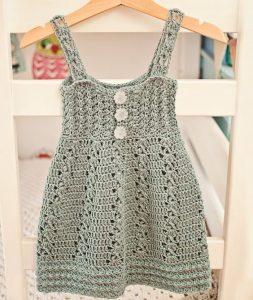 vestido tejido a crochet color plomo