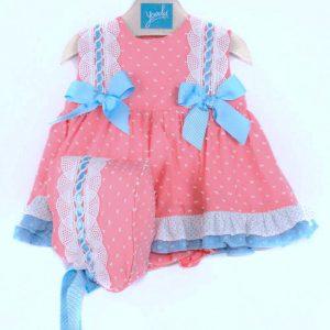 vestido Jesusito para niña con lazos