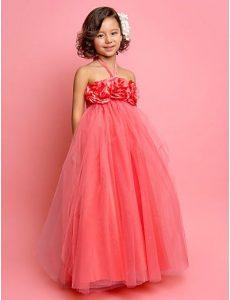 moderno vestido color coral para fiesta de promocion