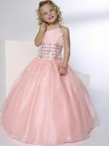 tierno vestido de fiesta de promocion primaria rosado