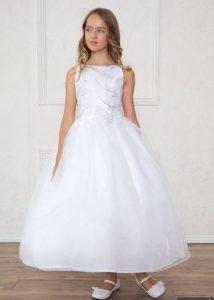 vestido de fiesta de promocion primaria color blanco