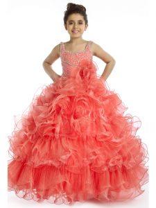 vestido color coral para fiesta de promocion niña de 12 años