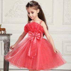 vestido corto para niña de 12 años color coral