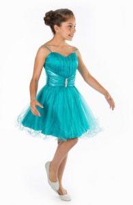 vestido de fiesta de promocion primaria color turquesa