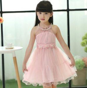 vestido de fiesta de promocion primaria color rosado