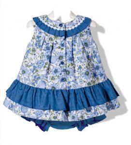 lindo vestido Jesusito para niña color azul
