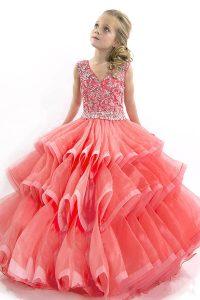 vestido largo para fiesta de promocion color coral