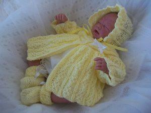 ajuar tejido para recien nacido