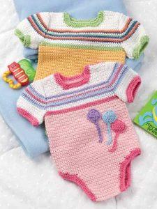 enterizo tejido a mano para bebe