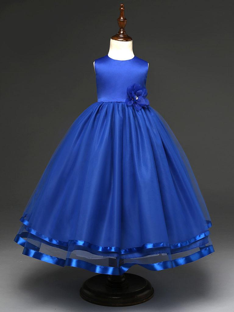 Vestidos De Color Azul Rey Para Ninas Patrones De Vestir