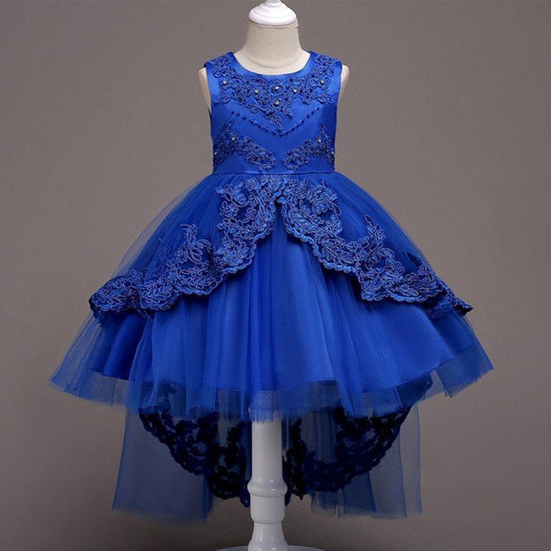 ec7e12b4a Preciosos vestidos de fiesta de promoción para niña color azul