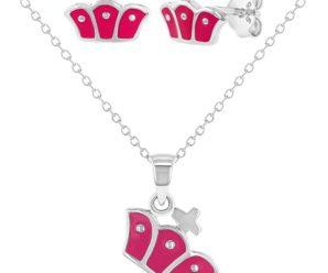 Hermosos juegos de collar y pendientes para niña, modelos exclusivos