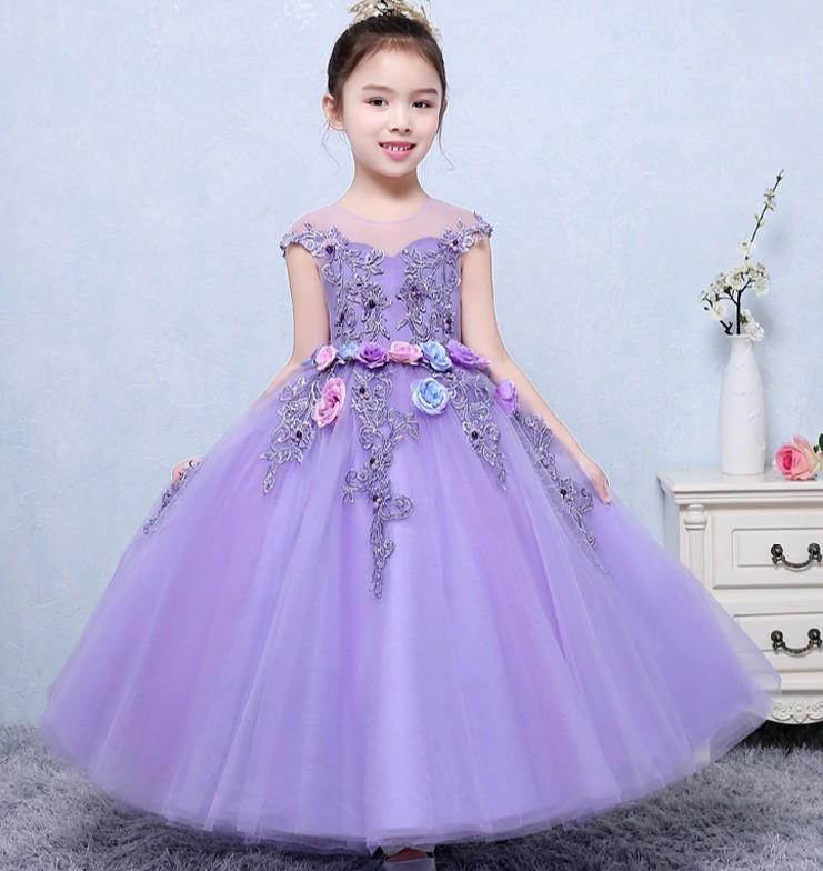 vestido de fiesta color lila