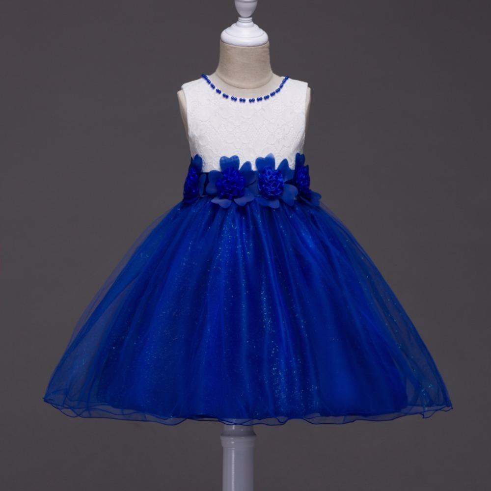 Preciosos Vestidos De Fiesta De Promoción Para Niña Color Azul