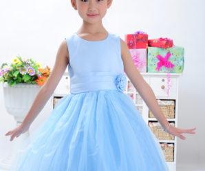 Vestidos de princesa para fiesta de promoción color celeste