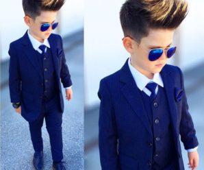 Exclusivos ternos de niño color azul para fiesta de promoción