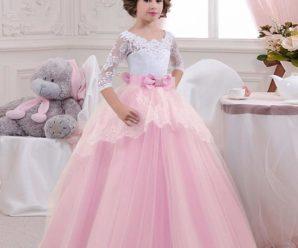 Los más hermosos vestidos de fiesta de promoción color rosado para niña